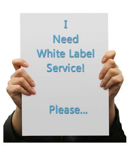 White Label Sign